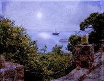 Moon over Historic Antigua