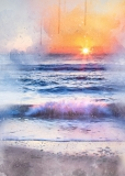 Sunrise in the Waves