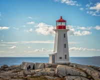 Strolling by the Lighthouse at Peggy's Cove